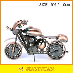 Collectible Art Sculpture Die Cast Harley Davidson Scrap Metal Motorcycle Motorbike-Copper Finish