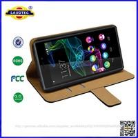 2015 new arrival Slim Flip genuine leather phone case for mobile phone Wiko Ridge 4G