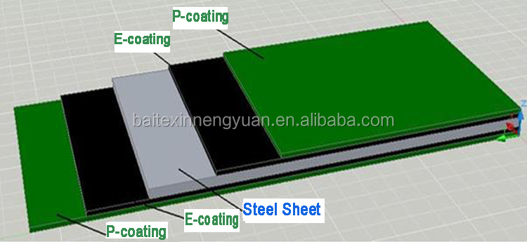 E-coating and P-coating both sides double layer anti-corrosion