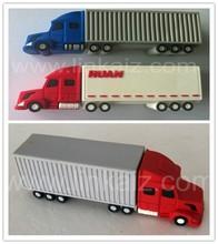 factory custom soft pvc 3D truck shape usb flash drive