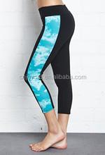 custom made 90% polyester 10% spandex yoga pants wholesale