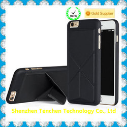 New hybrid transformer foldable stand case for iphone 6, for iphone 6 hybrid case