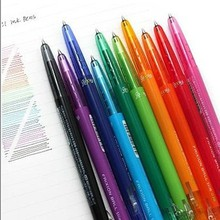 Baile pilot frixion ball slim erasable pen multi colour tube water-based pen 0.38mm