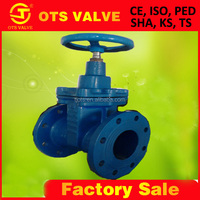 BV-SY-250 Ductile iron rising stem double flange gate valve DN50