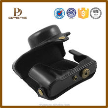 oem Soft Leather Camera Case for Canon G1X with Shoulder-strap