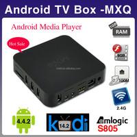 2015 factory newest Kodi 14.2 Android TV box Amlogic S805 MXQ 1GB RAM 8GB amlogic android smart tv box