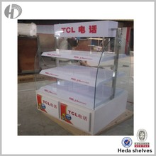mobile accessories mobile security display stand with advertising LED display