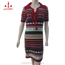 China knitwear supplier 2015 latest design sweater dress