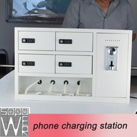 coin operated charging kiosk 4+4 coin operated charger public mobile phone charging station