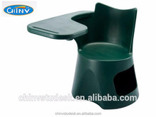 Modern plastic student chair with writing tablet
