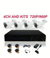 2015 Real Color Night Vision 4 CH 1080P AHD DVR 4*960 AHD Camera chaep 4ch dvr kit