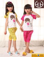 2015 conjuntos de ropa para niños niñas juegos de verano
