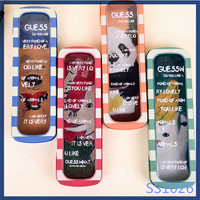 2016 korean new promotional stationery design wholesale eco school metal pencil case free sample