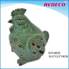 Glazed ceramic chicken figurine wholesale