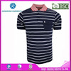 100% polyester collar sport t shirts Yarn Dyed Polo Shirt Striped Sport Polo T Shirt Factory with BSCI