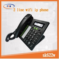 Voip wifi IP Phone with 2 sip lines SK622W