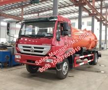 Sinotuck ouro príncipe SDRC 10M3 vácuo do jato caminhões de sucção de esgoto Tanker Truck vendas quentes