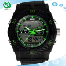 skmei led multifunctional dual time zone Men outdoor sports watch