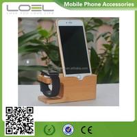 wooden desktop for apple watch charging stand, stand Charger Holder for apple watch and phone charging dock