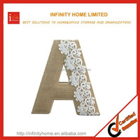 Flexible Decorative Alphabet Letter with Lace