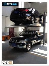 New Product for 2015 Two post double level hydraulic parking lift system for parking lot