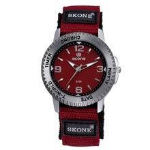 SKONE couple lover wrist watch Japan movt quartz nylon strap watch