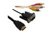 Hot sale HDMI to 3rca+vga splitter cable