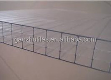 2015 new design building materials polycarbonate sheet 10mm triple tile roof made in China