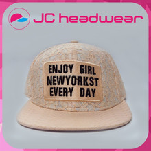 Fashion ladies lace plain snapback hat