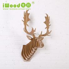 iWood animal heads home wall decoration