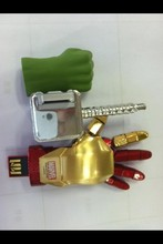 unique item, metal robot shape custom usb flash drives 1GB 2GB 4GB 8GB 16GB 32GB 64GB