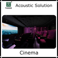 Acoustic materials for cinema movie theater