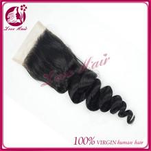 Direct From Factory alibaba express qingdao love hair brazilian hair loose wave lace closure lace closure human hair