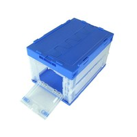 Foldable PP material Stocked Feature plastic storage boxes &bins for home organize