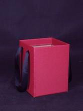 Flower / gift packaging grosgrain ribbon handle corrugated carrier bag