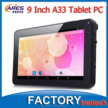 Hot!!! 9 Inch A33 Quad Core Chips RAM 512MB ROM 8GB Cheap Android 4.4 Super Smart Tablet PC