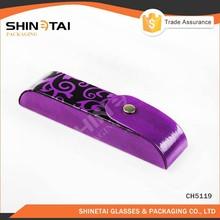 unique decorative pattern purple glasses case