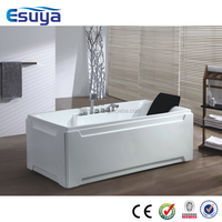 Natural white color body bath,indoor massage bathtub