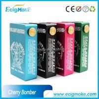 Most popular products on the market strong output wattage Ecigmoke vaper mod box cherry bomber box mod