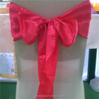 Hot Sale Christmas Party Decoration Red Christmas Chair Sash