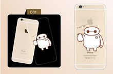 Fashion Trends Transparent Baymax clear phone case for iphone 6