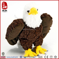 SEDEX ICTI BSCI WCA SA8000 audit factory China manufacturer stuffed mini toy bald eagle