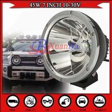 2015 Factory sales Chrome black ring 45W c ree led headlight working light off road vehicle 4x4 SUV ATV spot beam