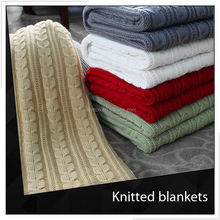 Wool Knit Cable Baby Blanket