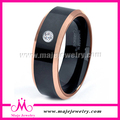 Precio barato anillos de despedida negro, para hombre de la joyería del anillo