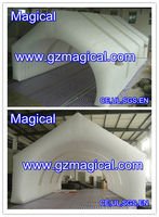 House Shape Inflatable Outdoor Tent of White Colour