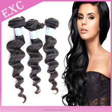 Bestselling products virgin Mongolian loose wave hair, grade virgin human loose wave hair extensions