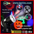 Rgbw led giran efectos de luz de halloween, decoración del partido
