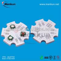 high power led chip 1w star PCB for 1/3W CREE RGB LED