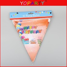 sports team pennant Triangle Custom Logo Colorful Banner And Pennants For Promotion